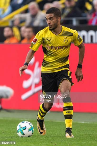 Jeremy Toljan of Borussia Dortmund during the Bundesliga match between Borussia Dortmund and Borussia Mönchengladbach on September 23 2017 at the...