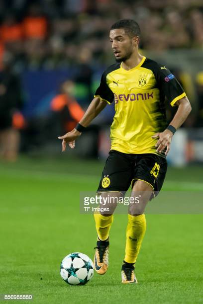 Jeremy Toljan of Dortmund controls the ball during the UEFA Champions League group H match between Borussia Dortmund and Real Madrid at Signal Iduna...