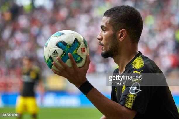 Jeremy Toljan of Dortmund looks on during the Bundesliga match between FC Augsburg and Borussia Dortmund at WWKArena on September 30 2017 in Augsburg...