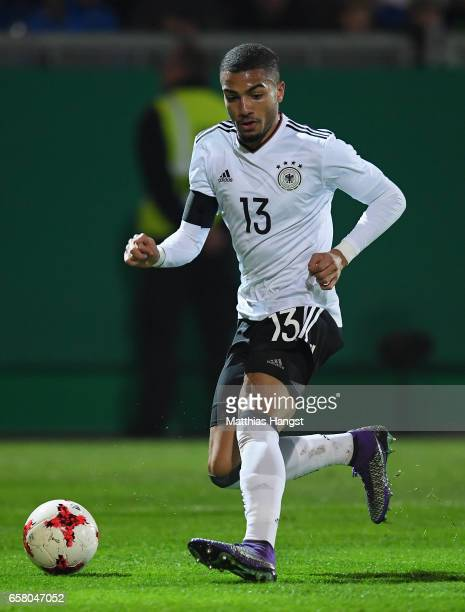 Jeremy Toljan of Germany controls the ball during the U21 International Friendly match between U21 Germany and U21 England at BRITAArena on March 24...
