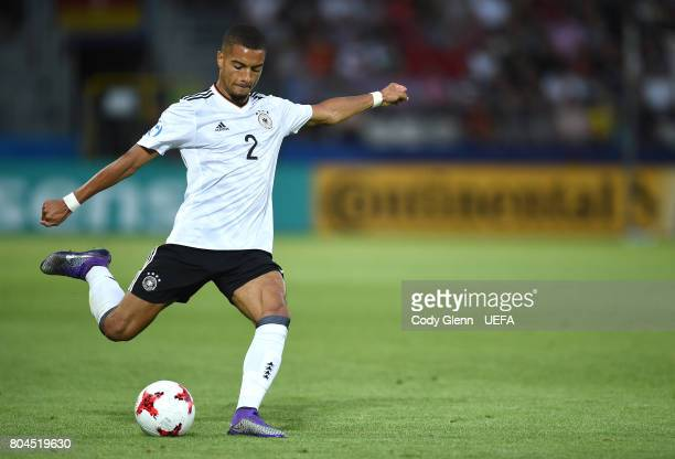 Jeremy Toljan of Germany during their UEFA European Under21 Championship 2017 final match against Spain on June 30 2017 in Krakow Poland
