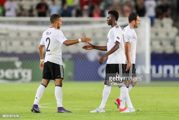 Jeremy Toljan of Germany Gideon Jung of Germany during the UEFA European Under21 Championship Group C match between Germany and Denmark at Krakow...