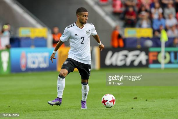 Jeremy Toljan of Germany in action during the UEFA European Under21 Championship Group C match between Germany and Czech Republic at Tychy Stadium on...