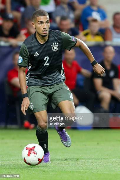 Jeremy Toljan of Germany in action during the UEFA European Under21 Championship Semi Final match between England and Germany at Tychy Stadium on...