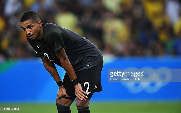 Jeremy Toljan of Germany looks dejected during the Olympic Men's Final Football match between Brazil and Germany at Maracana Stadium on August 20...
