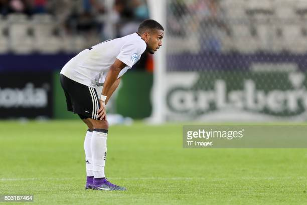 Jeremy Toljan of Germany looks on during the UEFA European Under21 Championship Group C match between Germany and Denmark at Krakow Stadium on June...