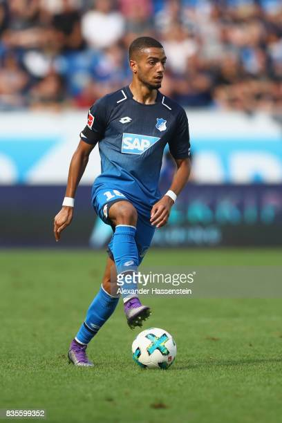 Jeremy Toljan of Hoffenheim runs with the ball during the Bundesliga match between TSG 1899 Hoffenheim and SV Werder Bremen at Wirsol...