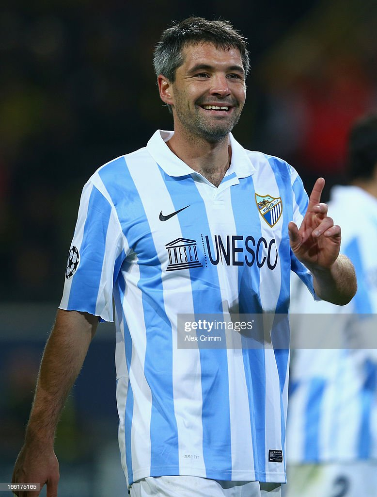 <a gi-track='captionPersonalityLinkClicked' href=/galleries/search?phrase=Jeremy+Toulalan&family=editorial&specificpeople=4321622 ng-click='$event.stopPropagation()'>Jeremy Toulalan</a> of Malaga reacts during the UEFA Champions League quarter-final second leg match between Borussia Dortmund and Malaga at Signal Iduna Park on April 9, 2013 in Dortmund, Germany.