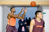 Jeremy Tyler during team practice at Shanxi Zhongyu of the Chinese Basketball Association for 201415 season on October 29 2014 in Taiyuan China