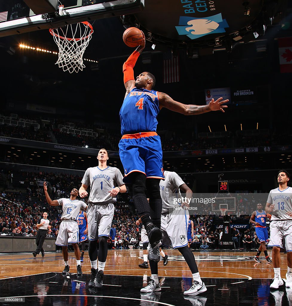 <a gi-track='captionPersonalityLinkClicked' href=/galleries/search?phrase=Jeremy+Tyler&family=editorial&specificpeople=5440865 ng-click='$event.stopPropagation()'>Jeremy Tyler</a> #4 of the New York Knicks shoots past Mason Plumlee #1 of the Brooklyn Nets during a game at Barclays Center in Brooklyn.