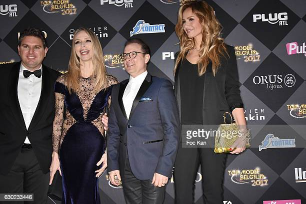 Jeremy Urbain Tonya Kinzinger Jean Marc Genereux and Adriana Karembeu attend the 'Top Model Belgium 2017' Ceremony at Le Lido on December 18 2016 in...