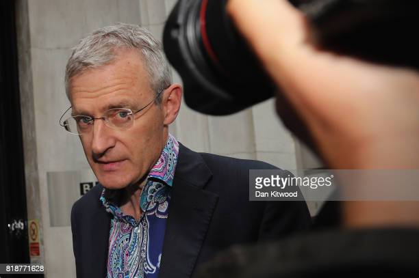 Jeremy Vine leaves BBC Wogan House after presenting his Radio 2 Show on July 19 2017 in London England The BBC has published the pay of its top...
