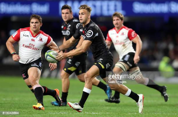 Jeremy Ward of the Cell C Sharks during the Super Rugby match between Cell C Sharks and Emirates Lions at Growthpoint Kings Park on July 15 2017 in...
