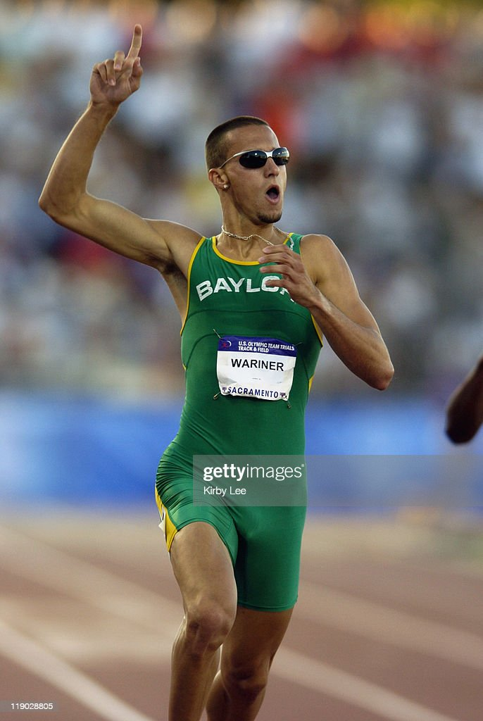 Jeremy Wariner of Baylor won the men's 400 meters in 44.37 seconds at the U.S. Track and Field Olympic trials at California State University Sacramento, Hornet Stadium, Thurdsay evening, July 15, 2004.