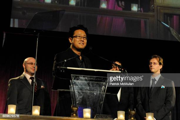 Jeremy Weinberger Jeff Han Perry Ziff Jason Reisman and Phil Davidson attend NATIONAL DESIGN AWARDS Gala at Cipriani 42 St on October 22 2009 in New...