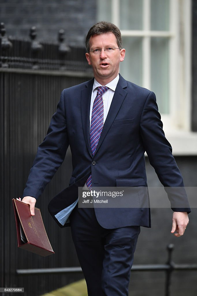 Jeremy Wright QC, Attorney General arrives for a cabinet meeting at Downing Street on June 27, 2016 in London, England. British Prime Minister David Cameron is due to chair an emergency Cabinet meeting this morning, after Britain voted to leave the European Union. Chancellor George Osborne spoke at a press conference ahead of the start of financial trading and outlining how the Government will 'protect the national interest' after the UK voted to leave the EU.