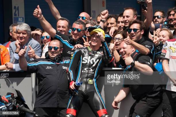 Jerez de la frontera SPAIN 7th of May 2017 Gran Premio Red Bull of Spain Race day Francesco Bagnaia Sky Racing Team Vr46 Kalex
