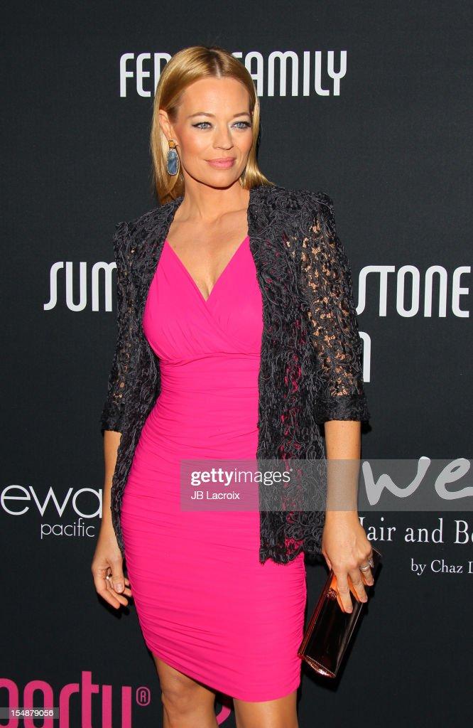 Jeri Ryan attends the 8th Annual Pink Party at Barkar Hangar on October 27, 2012 in Santa Monica, California.