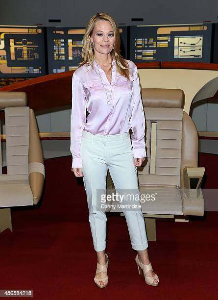 Jeri Ryan attends the Destination Star Trek event at ExCel on October 3 2014 in London England