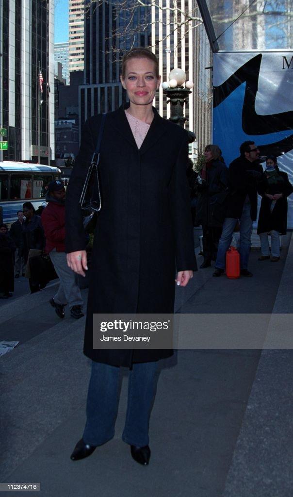 Jeri Ryan Sighting at the Fall 2002 New York Fashion Shows