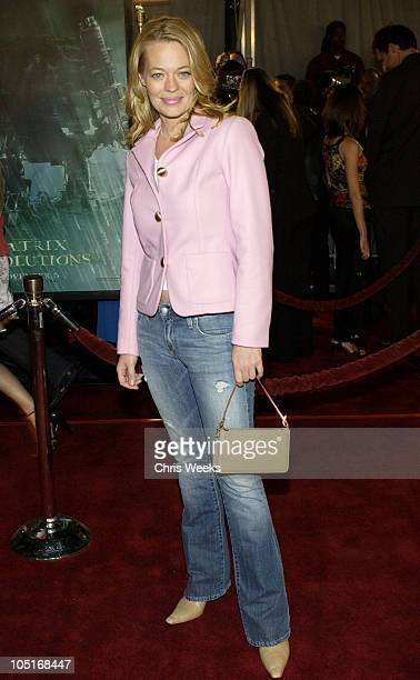 Jeri Ryan during 'Matrix Revolutions' Los Angeles Premiere Arrivals at Walt Disney Concert Hall in Los Angeles California United States