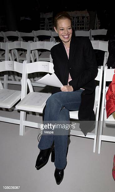 Jeri Ryan during MercedesBenz Fashion Week Rick Owens Fall 2002 Collection at 42nd 10th Studios in New York City New York United States