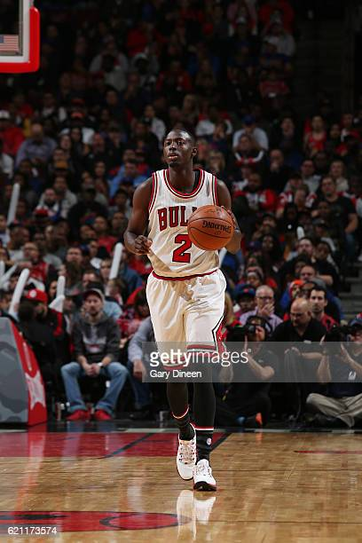 Jerian Grant of the Chicago Bulls brings the ball up the court during a game against the New York Knicks on November 4 2016 at the United Center in...