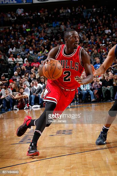 Jerian Grant of the Chicago Bulls drives against the Dallas Mavericks on December 3 2016 at the American Airlines Center in Dallas Texas NOTE TO USER...