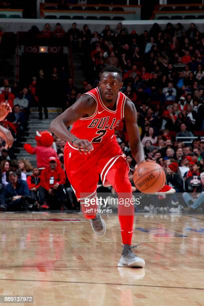 Jerian Grant of the Chicago Bulls handles the ball against the New York Knicks on December 9 2017 at the United Center in Chicago Illinois NOTE TO...