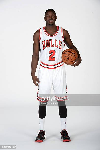 Jerian Grant of the Chicago Bulls poses for a portrait during the 20162017 Chicago Bulls Media Day on September 26 2016 at the Advocate Center in...