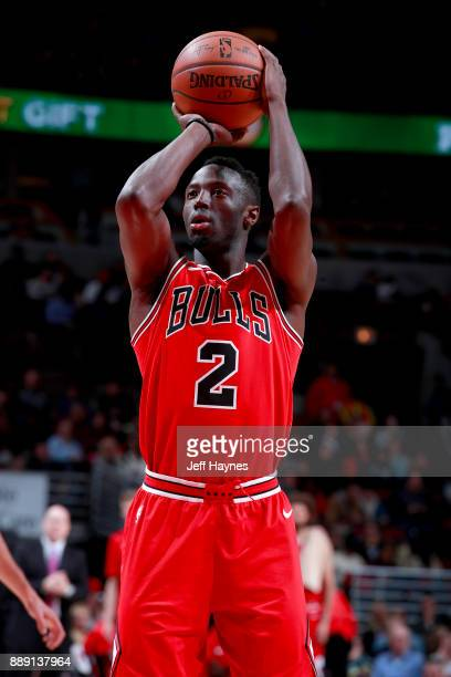 Jerian Grant of the Chicago Bulls shoots a free throw against the New York Knicks on December 9 2017 at the United Center in Chicago Illinois NOTE TO...