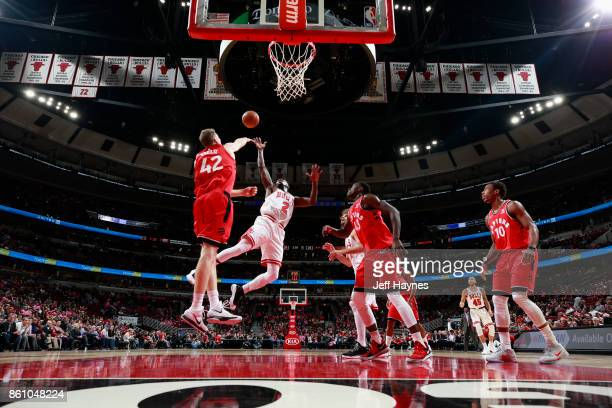Jerian Grant of the Chicago Bulls shoots the ball against the Toronto Raptors on October 13 2017 at the United Center in Chicago Illinois NOTE TO...
