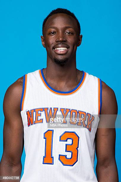 Jerian Grant of the New York Knicks poses for a head shot at media day at the MSG Training Facility in Greenburgh New York on September 28 2015 NOTE...