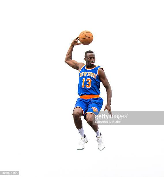 Jerian Grant of the New York Knicks poses for a photo during the 2015 NBA Rookie Shoot on August 8 2015 at the Madison Square Garden Training Center...