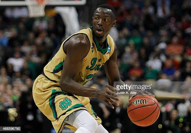 Jerian Grant of the Notre Dame Fighting Irish plays against the Butler Bulldogs during the third round of the 2015 NCAA Men's Basketball Tournament...