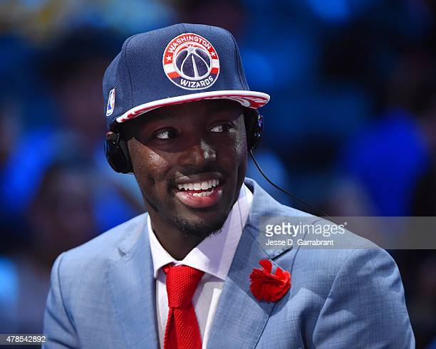 Jerian Grant the 19th pick overall in the 2015 NBA Draft by the Washington Wizards speaks to the media during the 2015 NBA Draft at the Barclays...