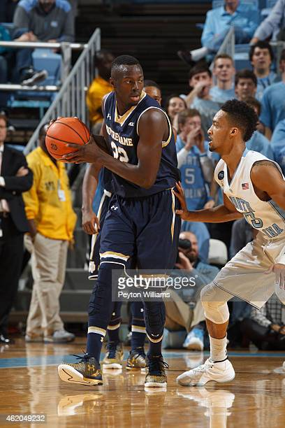 Jerian Grant the Notre Dame Fighting Irish plays against the North Carolina Tar Heels on January 05 2015 at the Dean E Smith Center in Chapel Hill...