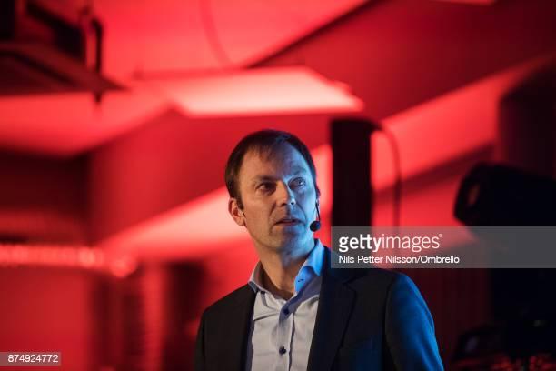 Jerker Rosander of Qvartz during the Sime Awards at Epicenter on November 16 2017 in Stockholm Sweden