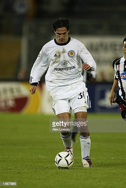 Jerko Leko of Dynamo Kiev in action during the UEFA Champions League Group E match between Juventus and Dynamo Kiev at Delle Alpi Stadium in Turin...