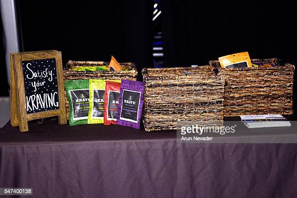 Jerky on display at Art Hearts Fashion Miami Swim Week Presented by AIDS Healthcare Foundation at Collins Park on July 14 2016 in Miami Beach Florida
