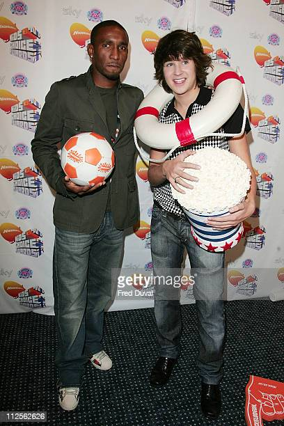 Jermain Defoe and Devon Werkheiser attend the Nickelodeon Kids' Choice Awards on October 20 2007 in London England