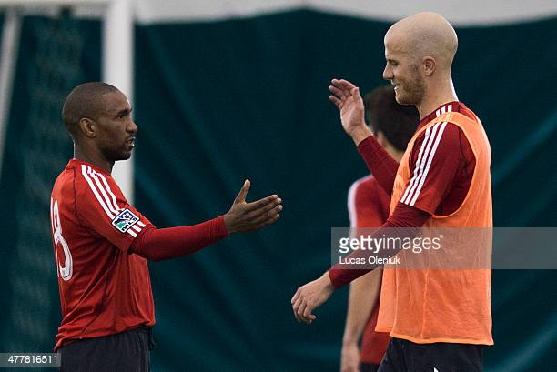 Jermain Defoe and Michael Bradley practiced with the FC at the Downsview training centre in Toronto Monday morning March 10 2014