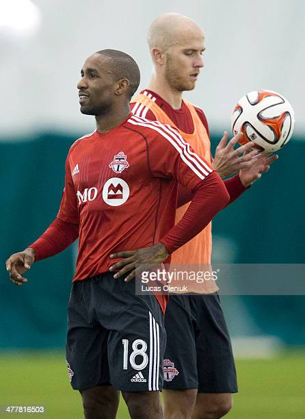 Jermain Defoe and Michael Bradley returned practiced with the FC at the Downsview training centre in Toronto Monday morning March 10 2014