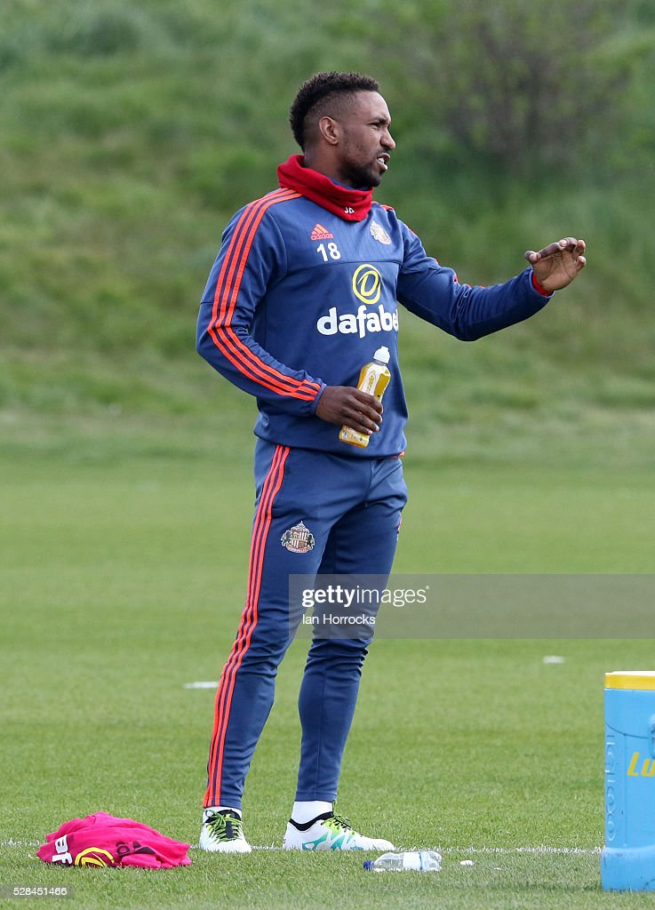 Jermain Defoe during a Sunderland training session at The Academy of Light on May 5, 2016 in Sunderland, England.