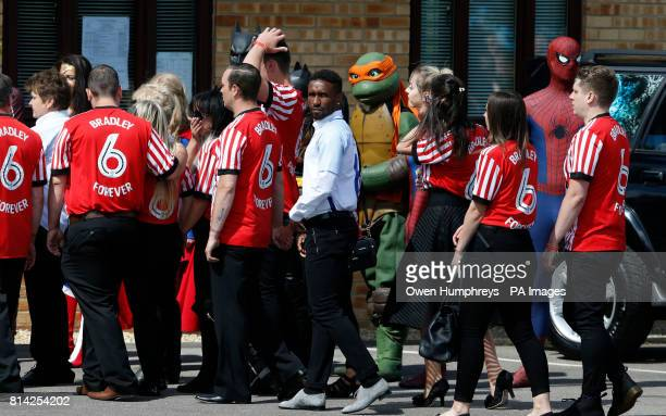Jermain Defoe during the funeral of Bradley Lowery the sixyearold football mascot whose cancer battle captured hearts around the world at St Joseph's...