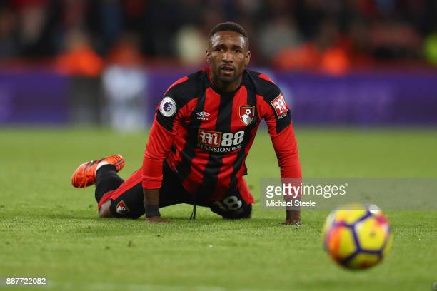 Jermain Defoe of AFC Bournemouth during the Premier League match between AFC Bournemouth and Chelsea at Vitality Stadium on October 28 2017 in...