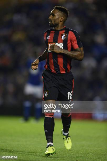 Jermain Defoe of AFC Bournemouth in action during the Carabao Cup Second Round match between Birmingham City and AFC Bournemouth at St Andrews on...