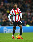 Jermain Defoe of Sunderland controls the ball during the Barclays Premier League match between Sunderland and Bournemouth at The Stadium of Light on...