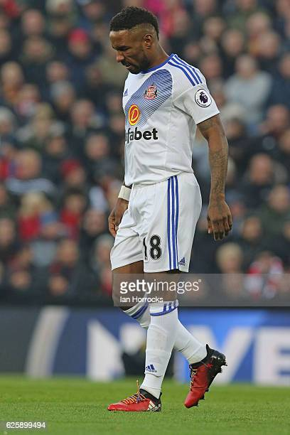 Jermain Defoe of Sunderland wearing rainbow shoelaces during the Premier League match between Liverpool and Sunderland at Anfield on November 26 2016...
