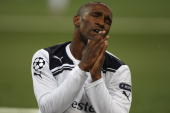 Jermain Defoe of Tottenham rues a missed chance during the UEFA Champions League PlayOff first leg match between BSC Young Boys and Tottenham Hotspur...